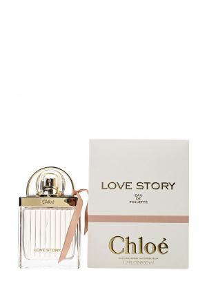Туалетная вода Chloe Love Story, 50 мл. Цвет: прозрачный