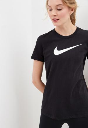 Майка спортивная Nike W NK DRY TEE DFC CREW. Цвет: белый