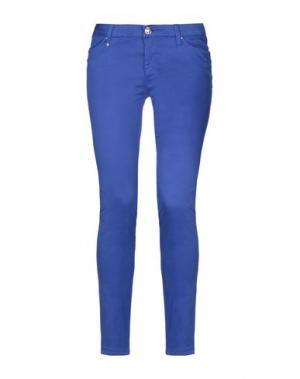 Повседневные брюки LEROCK. Цвет: ярко-синий