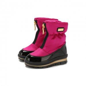 Текстильные ботинки Jog Dog. Цвет: розовый