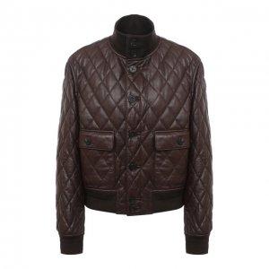 Кожаная куртка Ralph Lauren. Цвет: коричневый
