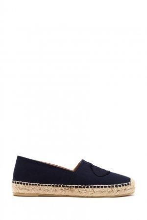 Темно-синие эспадрильи с логотипом Prada. Цвет: multicolor