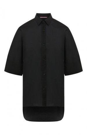 Хлопковая рубашка Y`s. Цвет: чёрный