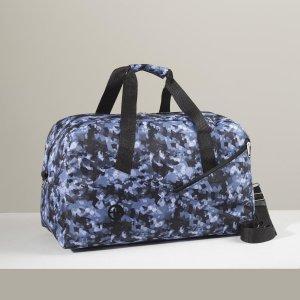 Сумка дорожная, отдел на молнии, наружный карман, длинный ремень, цвет синий/камуфляж TEXTURA
