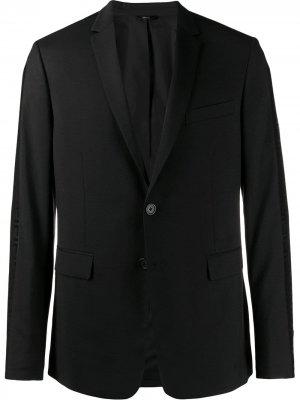 Блейзер с логотипом Fendi. Цвет: черный