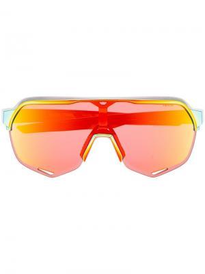 Солнцезащитные очки S2 Sagan 100% Eyewear. Цвет: красный