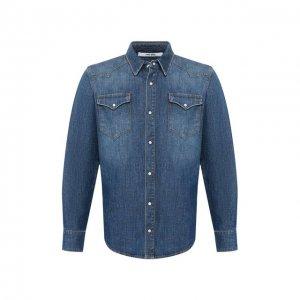 Джинсовая рубашка 2 Men Jeans. Цвет: синий