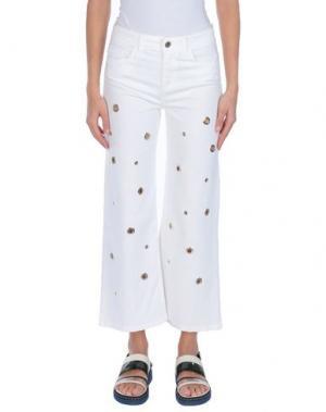 Джинсовые брюки ANNARITA N TWENTY 4H. Цвет: белый