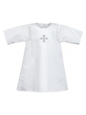 Крестильная рубашка Ангел мой. Цвет: белый, серебристый