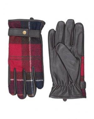 Перчатки BARBOUR. Цвет: красный