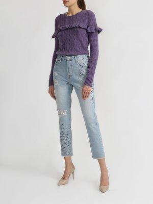 Рваные джинсы Liu Jo. Цвет: goluboy