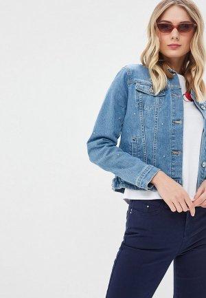 Куртка джинсовая Zarina. Цвет: синий