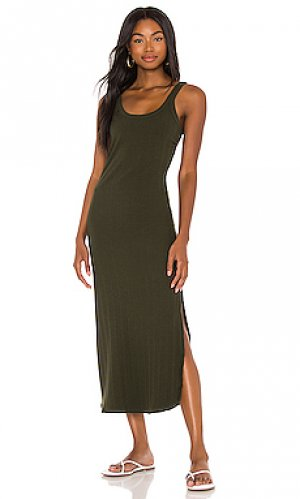 Платье миди west vitamin A. Цвет: военный стиль