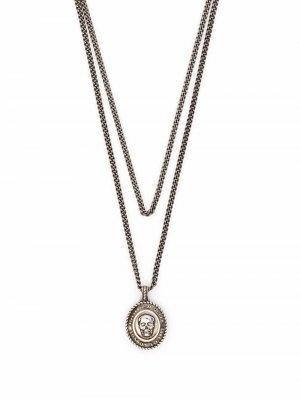 Double layer chain necklace Alexander McQueen. Цвет: серебристый