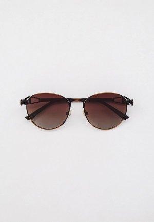 Очки солнцезащитные Havvs HV68022, с поляризационными линзами. Цвет: коричневый