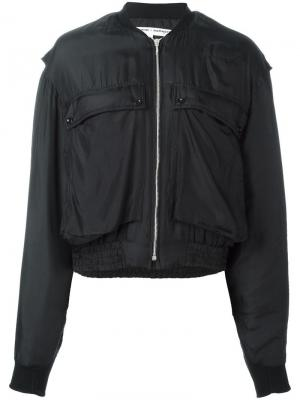 Куртка бомбер с накладными карманами Katharine Hamnett. Цвет: чёрный