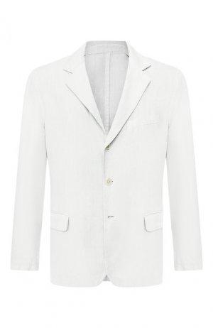 Льняной пиджак 120% Lino. Цвет: светло-серый