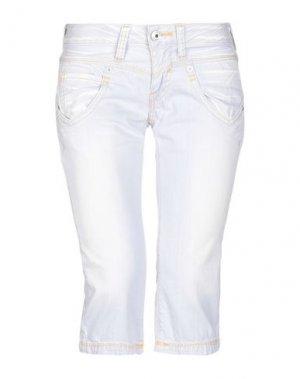 Джинсовые брюки-капри REPLAY. Цвет: сиреневый