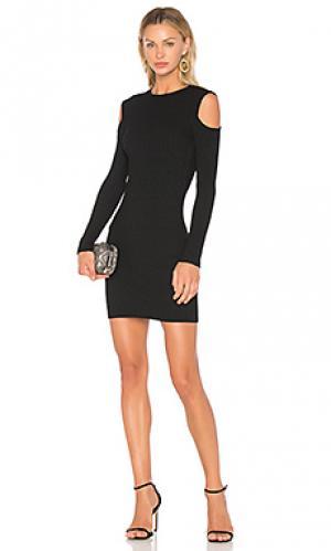 Мини платье с открытыми плечами David Lerner. Цвет: черный