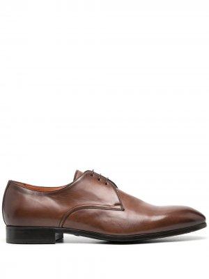 Туфли дерби Santoni. Цвет: коричневый