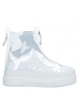 Высокие кеды и кроссовки AGL ATTILIO GIUSTI LEOMBRUNI. Цвет: белый