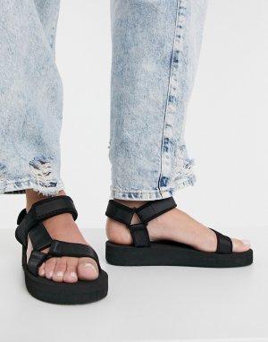 Черные сандалии в спортивном стиле Fix Up-Черный цвет ASOS DESIGN
