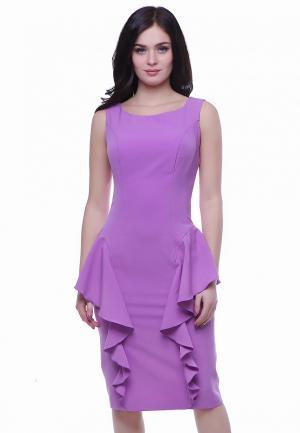 Платье Grey Cat LIDA. Цвет: фиолетовый