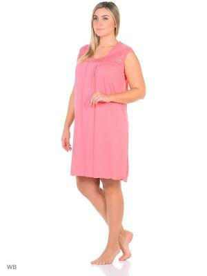 Ночная сорочка больших размеров Flip. Цвет: светло-коралловый