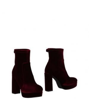 Полусапоги и высокие ботинки BLU BYBLOS. Цвет: красно-коричневый