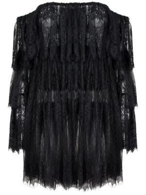 Кружевная блуза Alina German. Цвет: черный