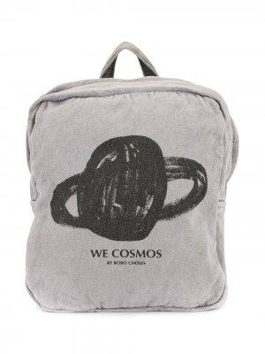 Рюкзак с принтом Bobo Choses. Цвет: серый