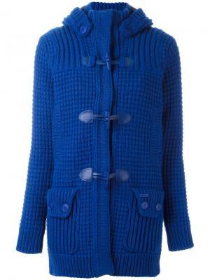 Куртка с меховым капюшоном Bark. Цвет: синий