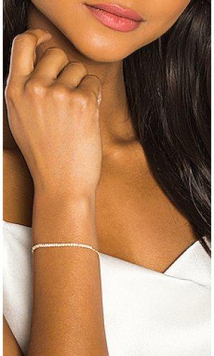 Браслет diamond zipper Sachi. Цвет: металлический золотой