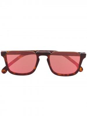 Солнцезащитные очки Belmont черепаховой расцветки PAUL SMITH EYEWEAR. Цвет: коричневый