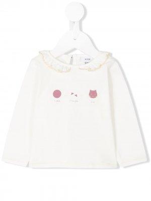 Блузка Cat Knot. Цвет: белый