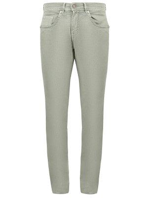 Хлопковые джинсы Baldessarini. Цвет: зеленый