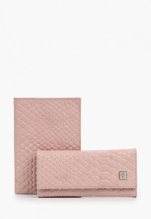 Обложка для документов и ключница Dimanche. Цвет: розовый