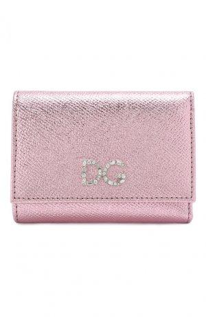 Кожаный кошелек на кнопке Dolce & Gabbana. Цвет: светло-розовый