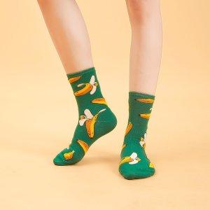 Носки с узором SHEIN. Цвет: зелёные