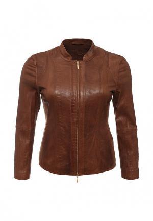 Куртка кожаная Betty Barclay BE053EWHUR29. Цвет: коричневый