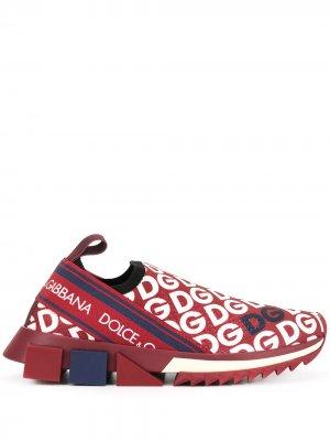 Слипоны Sorrento с логотипом Dolce & Gabbana. Цвет: красный