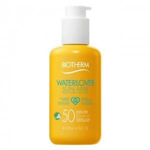 Солнцезащитное молочко для лица и тела Waterlover Sun Milk SPF 50 Biotherm. Цвет: бесцветный