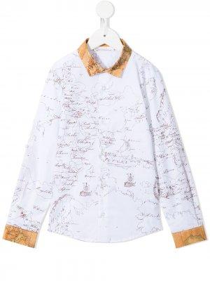 Рубашка с принтом Alviero Martini Kids. Цвет: белый