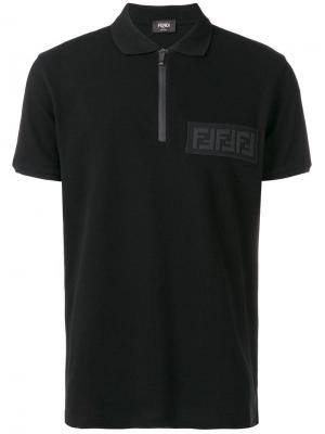 Zip fastening polo shirt Fendi. Цвет: черный