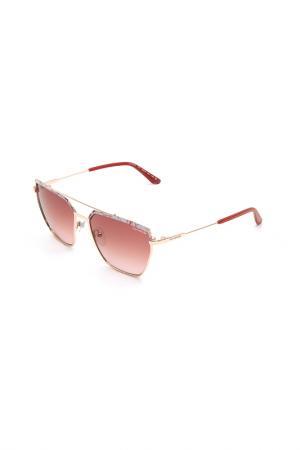 Очки солнцезащитные Guy Laroche. Цвет: 100 розовое золото, белый, кра