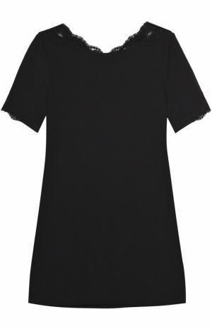 Хлопковая футболка La Perla. Цвет: чёрный