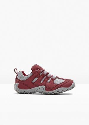 Ботинки треккинговые bonprix. Цвет: красный