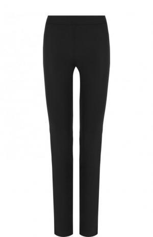 Однотонные брюки прямого кроя из шерсти La Perla. Цвет: чёрный
