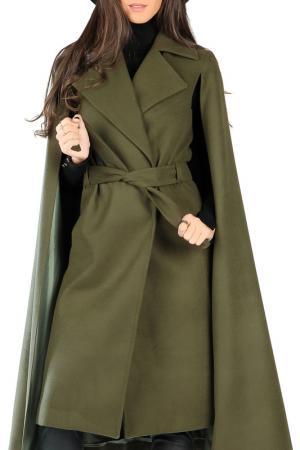 Пальто Joins. Цвет: khaki