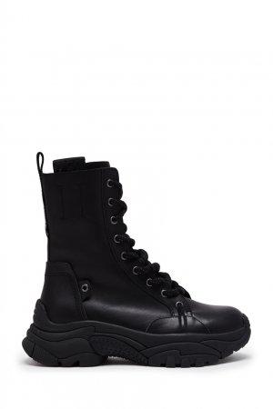 Черные ботинки на толстой подошве ASH. Цвет: черный